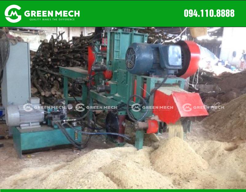 Lắp đặt máy nghiền gỗ thành mùn cưa trồng nấm tại DakLak