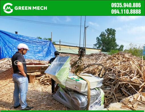 Giao hàng máy băm gỗ 3 Tấn tại Đà Nẵng