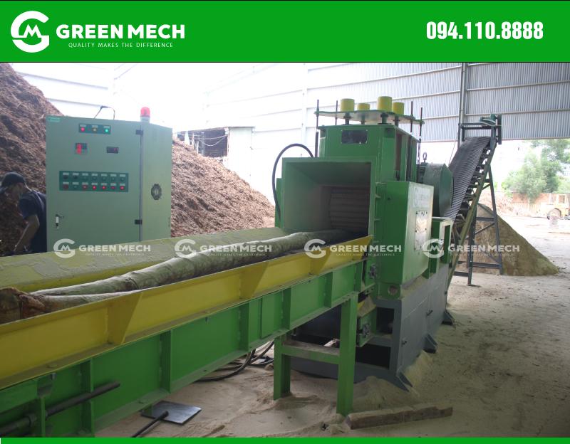 Lắp đặt máy nghiền gỗ cây thành mùn cưa tại Quảng Ngãi