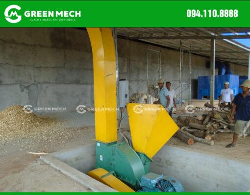 Máy băm gỗ 15 Tấn lắp đặt dưới hố để thuận tiện cấp liệu