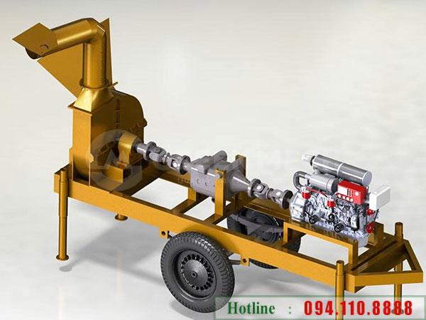 Thiết kế máy băm gỗ di động 5 tấn