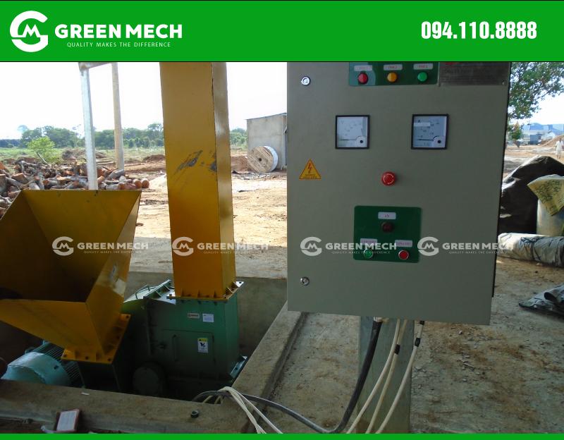 Tủ điện máy băm gỗ 15 Tấn lắp đặt tại Campuchia